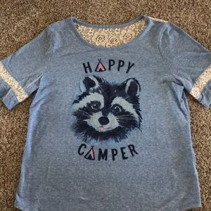 Justice size 14 Happy Camper T-shirt